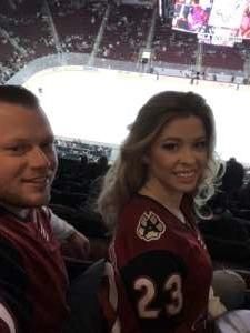 Joshua attended Arizona Coyotes vs. Carolina Hurricanes - NHL on Feb 6th 2020 via VetTix