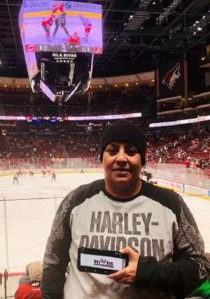 Fel attended Arizona Coyotes vs. Carolina Hurricanes - NHL on Feb 6th 2020 via VetTix