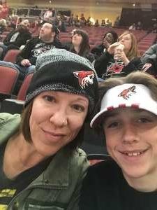 Shellie attended Arizona Coyotes vs. Carolina Hurricanes - NHL on Feb 6th 2020 via VetTix