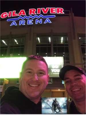 Josh attended Arizona Coyotes vs. Carolina Hurricanes - NHL on Feb 6th 2020 via VetTix