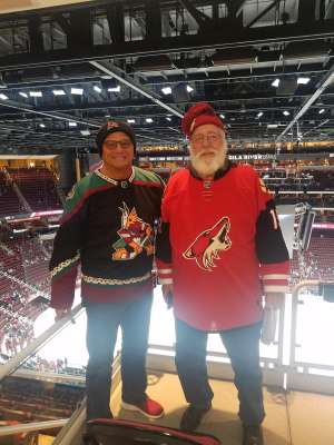 Hank attended Arizona Coyotes vs. Carolina Hurricanes - NHL on Feb 6th 2020 via VetTix