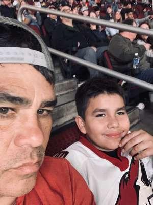 Jorge attended Arizona Coyotes vs. Carolina Hurricanes - NHL on Feb 6th 2020 via VetTix