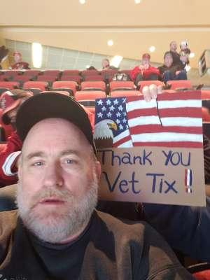 Harvey attended Arizona Coyotes vs. Carolina Hurricanes - NHL on Feb 6th 2020 via VetTix