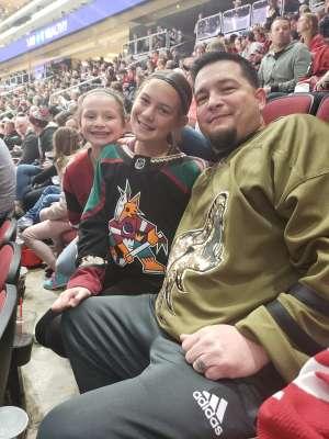 Jason attended Arizona Coyotes vs. Carolina Hurricanes - NHL on Feb 6th 2020 via VetTix