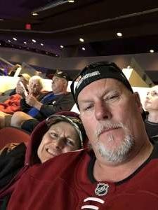 RAYMOND attended Arizona Coyotes vs. Carolina Hurricanes - NHL on Feb 6th 2020 via VetTix