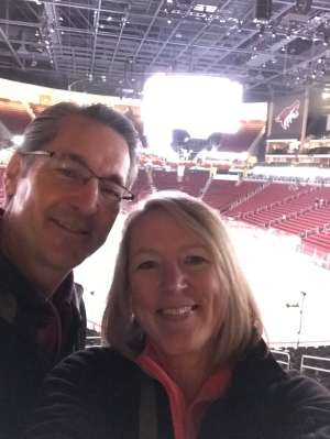 Paul & Dawn attended Arizona Coyotes vs. Carolina Hurricanes - NHL on Feb 6th 2020 via VetTix