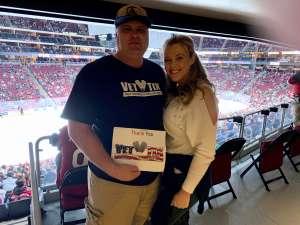 vincenzo attended Arizona Coyotes vs. Carolina Hurricanes - NHL on Feb 6th 2020 via VetTix