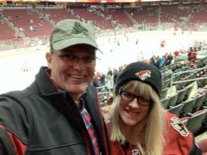Edward attended Arizona Coyotes vs. Carolina Hurricanes - NHL on Feb 6th 2020 via VetTix