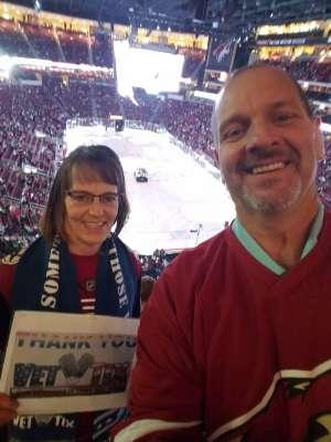 Valorie attended Arizona Coyotes vs. Carolina Hurricanes - NHL on Feb 6th 2020 via VetTix