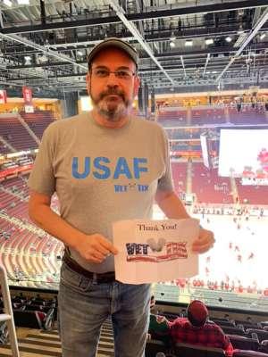 Jeff attended Arizona Coyotes vs. Carolina Hurricanes - NHL on Feb 6th 2020 via VetTix