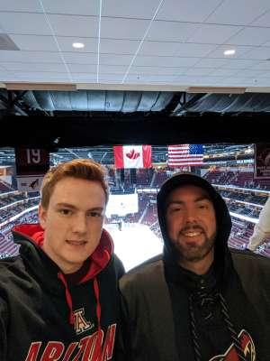 Jonathan attended Arizona Coyotes vs. Carolina Hurricanes - NHL on Feb 6th 2020 via VetTix