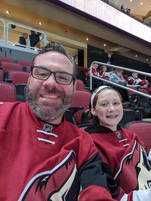 Brian attended Arizona Coyotes vs. Carolina Hurricanes - NHL on Feb 6th 2020 via VetTix