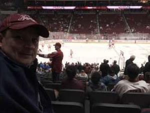 Joey attended Arizona Coyotes vs. Carolina Hurricanes - NHL on Feb 6th 2020 via VetTix