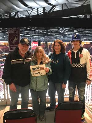 Terry attended Arizona Coyotes vs. Florida Panthers - NHL on Feb 25th 2020 via VetTix