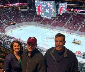 Michelle attended Arizona Coyotes vs. Florida Panthers - NHL on Feb 25th 2020 via VetTix