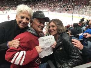 Alan attended Arizona Coyotes vs. Florida Panthers - NHL on Feb 25th 2020 via VetTix