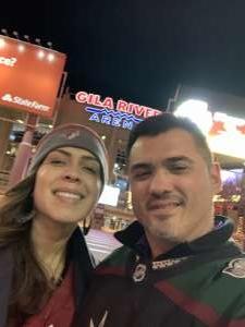 Richard Verduzco attended Arizona Coyotes vs. Florida Panthers - NHL on Feb 25th 2020 via VetTix