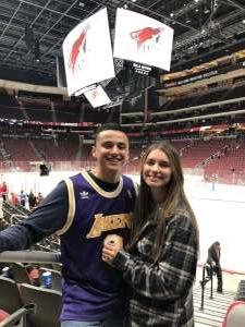 OGgilio19  attended Arizona Coyotes vs. Florida Panthers - NHL on Feb 25th 2020 via VetTix