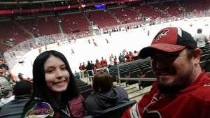Justin attended Arizona Coyotes vs. Florida Panthers - NHL on Feb 25th 2020 via VetTix