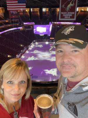 Donnie attended Arizona Coyotes vs. Florida Panthers - NHL on Feb 25th 2020 via VetTix
