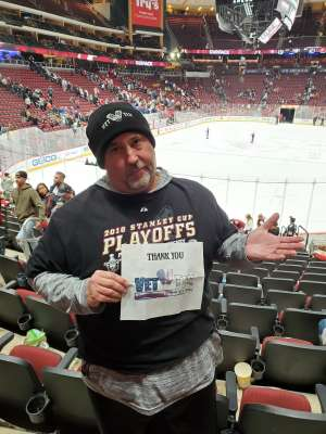 Tom attended Arizona Coyotes vs. Florida Panthers - NHL on Feb 25th 2020 via VetTix