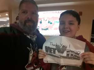 Sergio attended Arizona Coyotes vs. Florida Panthers - NHL on Feb 25th 2020 via VetTix