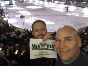 Sven attended Arizona Coyotes vs. Florida Panthers - NHL on Feb 25th 2020 via VetTix