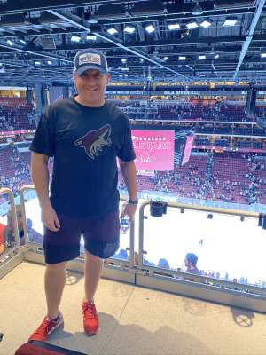 aaron attended Arizona Coyotes vs. Florida Panthers - NHL on Feb 25th 2020 via VetTix
