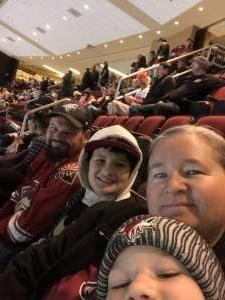Christina attended Arizona Coyotes vs. Florida Panthers - NHL on Feb 25th 2020 via VetTix
