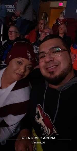 Javier attended Arizona Coyotes vs. Florida Panthers - NHL on Feb 25th 2020 via VetTix