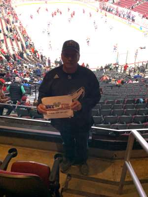 Mark attended Arizona Coyotes vs. Florida Panthers - NHL on Feb 25th 2020 via VetTix