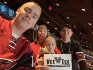 Clayton attended Arizona Coyotes vs. Florida Panthers - NHL on Feb 25th 2020 via VetTix