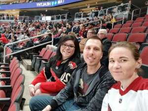 Christina attended Arizona Coyotes vs. Florida Panthers - NHL on Feb 25th 2020 via VetTix