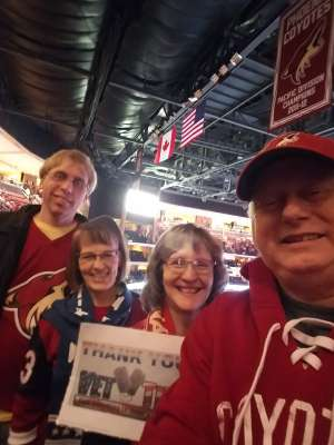 Valorie attended Arizona Coyotes vs. Florida Panthers - NHL on Feb 25th 2020 via VetTix