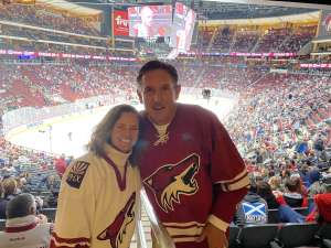 brett attended Arizona Coyotes vs. Florida Panthers - NHL on Feb 25th 2020 via VetTix