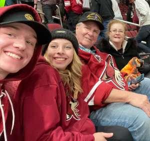 Bob attended Arizona Coyotes vs. Florida Panthers - NHL on Feb 25th 2020 via VetTix