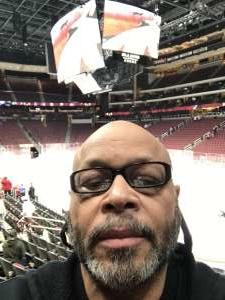 Harvey attended Arizona Coyotes vs. Florida Panthers - NHL on Feb 25th 2020 via VetTix