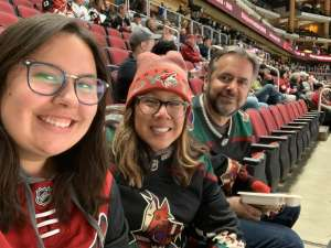 Derek attended Arizona Coyotes vs. Florida Panthers - NHL on Feb 25th 2020 via VetTix