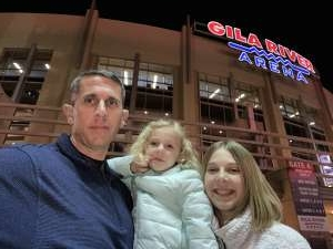 Justin attended Arizona Coyotes vs. Florida Panthers - NHL on Feb 25th 2020 via VetTix