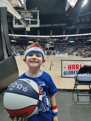 Angie attended Harlem Globetrotters on Jan 25th 2020 via VetTix