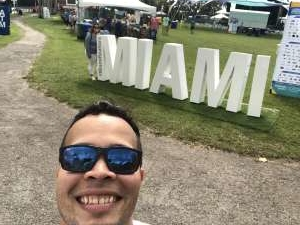 Emmanuel attended Coconut Grove Arts Festival on Feb 15th 2020 via VetTix