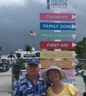 Paul attended Coconut Grove Arts Festival on Feb 15th 2020 via VetTix