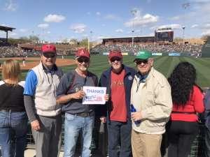 Ken attended Arizona Diamondbacks vs. Oakland Athletics - MLB ** Spring Training ** on Feb 23rd 2020 via VetTix
