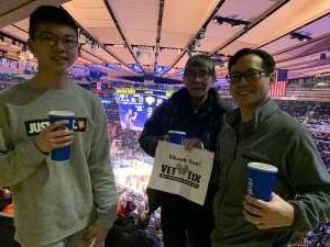 William attended New York Knicks vs. Memphis Grizzlies - NBA on Jan 29th 2020 via VetTix