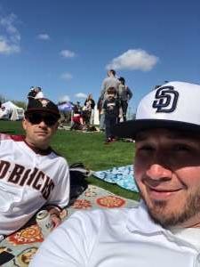 Nathan Shaw attended Colorado Rockies vs. Texas Rangers - MLB ** Spring Training ** Lawn Seats on Feb 26th 2020 via VetTix