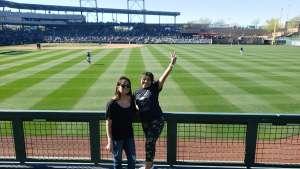 Crystal  attended Colorado Rockies vs. Texas Rangers - MLB ** Spring Training ** Lawn Seats on Feb 26th 2020 via VetTix