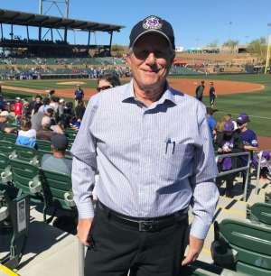 MARTIN attended Colorado Rockies vs. Texas Rangers - MLB ** Spring Training ** Lawn Seats on Feb 26th 2020 via VetTix