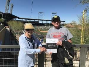 Jim and Lynn attended Colorado Rockies vs. Texas Rangers - MLB ** Spring Training ** Lawn Seats on Feb 26th 2020 via VetTix
