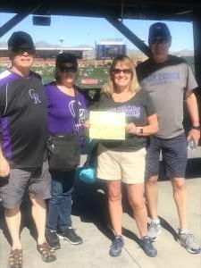 K Murray attended Colorado Rockies vs. Texas Rangers - MLB ** Spring Training ** Lawn Seats on Feb 26th 2020 via VetTix