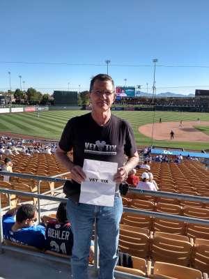 Howard attended Los Angeles Dodgers vs. Los Angeles Angels - MLB ** Spring Training ** on Feb 26th 2020 via VetTix